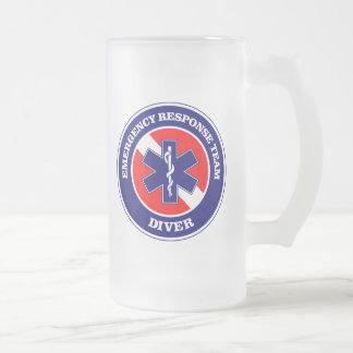 ERT Diver 16 Oz Frosted Glass Beer Mug
