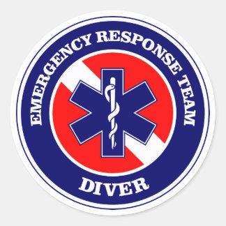 ERT Diver Round Sticker