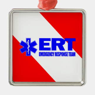 ERT -Emergency Response Team Silver-Colored Square Decoration