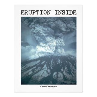 Eruption Inside (Mt. Saint Helens) Personalized Flyer