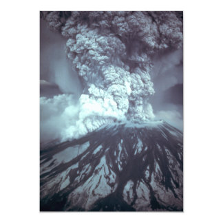 Eruption of Mount Saint Helens Stratovolcano 1980 13 Cm X 18 Cm Invitation Card