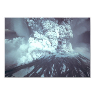 Eruption of Mount Saint Helens Stratovolcano 1980 9 Cm X 13 Cm Invitation Card