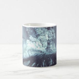 Eruption of Mount Saint Helens Stratovolcano 1980 Basic White Mug
