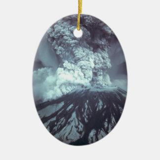 Eruption of Mount Saint Helens Stratovolcano 1980 Ceramic Oval Decoration