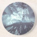 Eruption of Mount Saint Helens Stratovolcano 1980 Drink Coaster