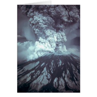 Eruption of Mount Saint Helens Stratovolcano 1980 Greeting Card