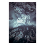Eruption of Mount Saint Helens Stratovolcano 1980 Poster