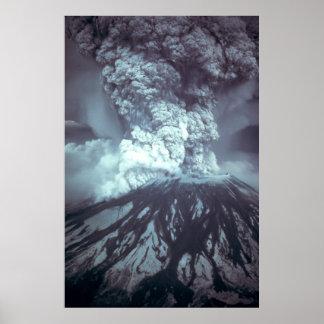Eruption of Mount Saint Helens Stratovolcano 1980 Poster