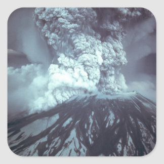 Eruption of Mount Saint Helens Stratovolcano 1980 Square Sticker