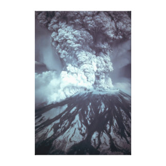 Eruption of Mount Saint Helens Stratovolcano 1980 Stretched Canvas Prints
