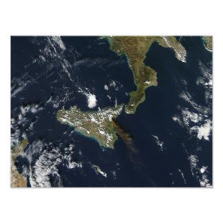 Eruption of Mt Etna in Sicily Photo Print