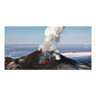 Eruption Tolbachik Volcano in Kamchatka. Russia Photo Card