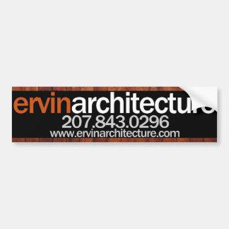 Ervin Architecture Bumper Sticker