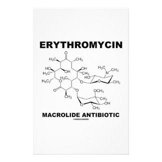 Erythromycin Macrolide Antibiotic (Molecule) Customized Stationery
