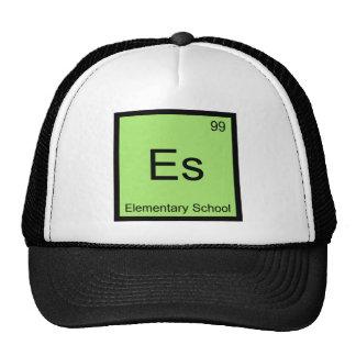 Es - Elementary School Chemistry Element Symbol T Trucker Hat
