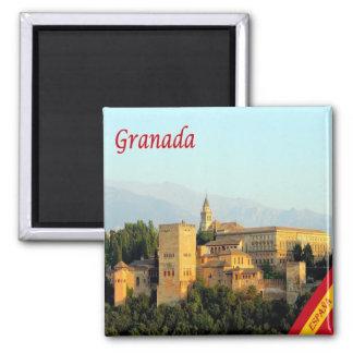 ES - Spain - Granada Panorama Square Magnet
