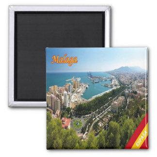 ES - Spain - Malaga Panorama Square Magnet