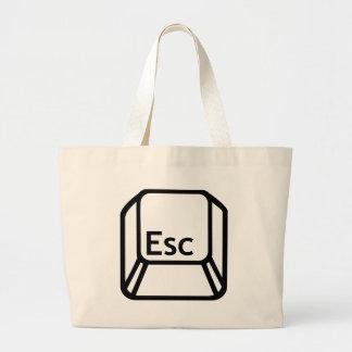 Esc Escape button Jumbo Tote Bag