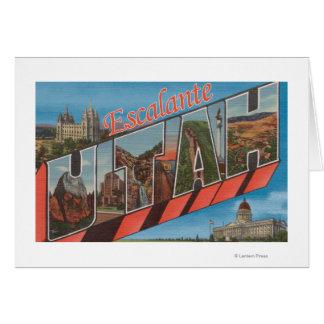 Escalante, Utah - Large Letter Scenes Card