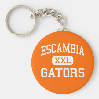 Escambia - Gators - High - Pensacola Florida Basic Round Button Key Ring