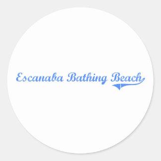 Escanaba Bathing Beach Michigan Classic Design Stickers