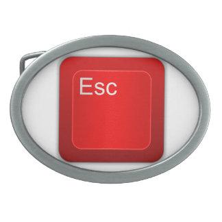 Escape Computer Button Belt Buckle