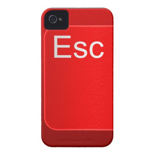 Escape Computer Button Blackberry Case
