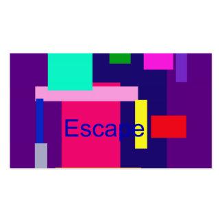 Escape Dark Magenta Business Cards