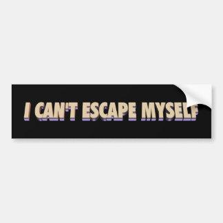 Escape Myself Sticker 3D Bumper Sticker