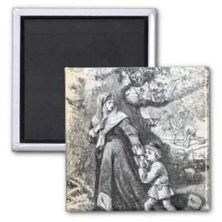 Escape of Queen Margaret Fridge Magnet
