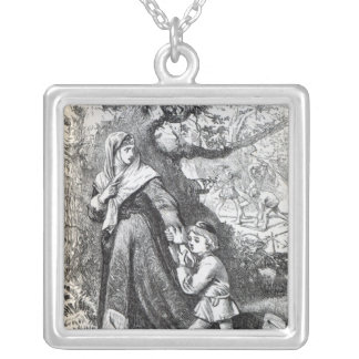 Escape of Queen Margaret Silver Plated Necklace