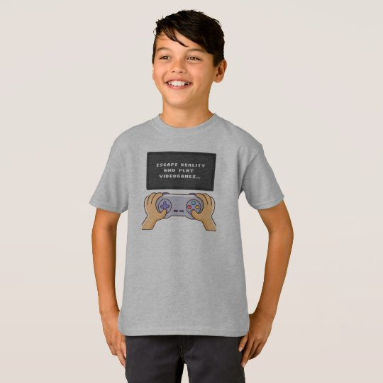 Escape Reality & Play Video Games Tagless Shirt