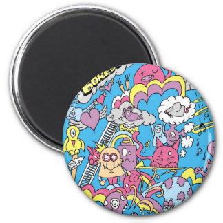 escape the boredom 6 cm round magnet