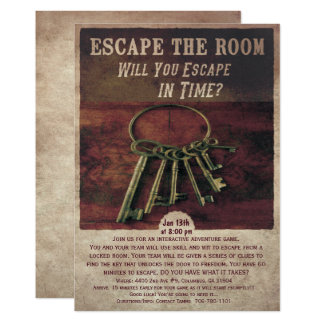 Escape the Room Invitation