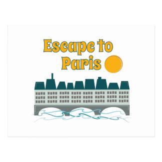 Escape To Paris Postcard