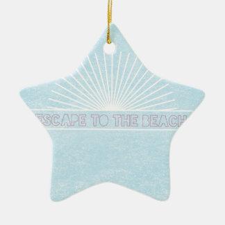 Escape To The Beach Ceramic Star Decoration