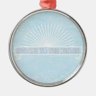 Escape To The Beach Christmas Ornament