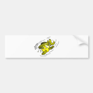 Escaping from the fly Funny Ozi Fish Cartoon Bumper Sticker