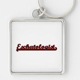 Eschatologist Classic Job Design Silver-Colored Square Key Ring