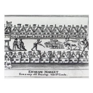 Escheape Market Postcard