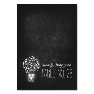 escort cards place cards chalkboard mason jar table card