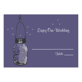 Escort Seating Card Fireflies & Mason Jar Pack Of Chubby Business Cards