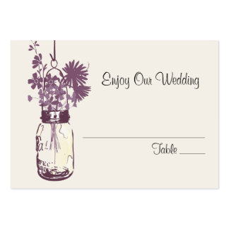 Escort Seating Card Wild Flowers & Mason Jar Pack Of Chubby Business Cards