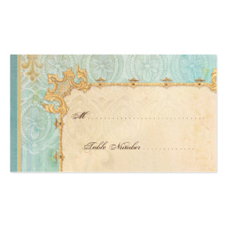 Escort Table Number Cards - Fleur di Lys Damask 2 Pack Of Standard Business Cards