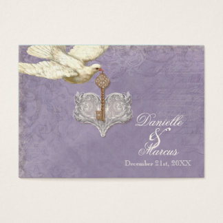 Escort Table Seating Card, Key to my Heart, Doves Business Card