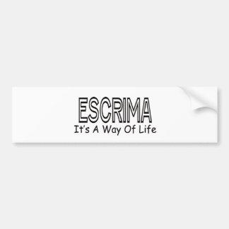 Escrima It s A Way Of Life Bumper Sticker