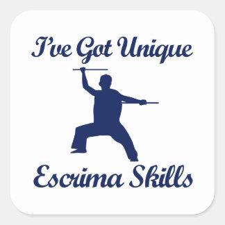 Escrima martial art designs square stickers