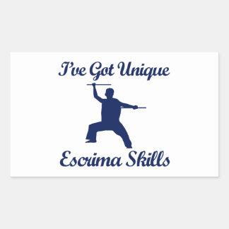 Escrima martial art designs rectangle sticker
