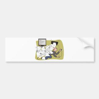 Escritório da bagunça bumper sticker