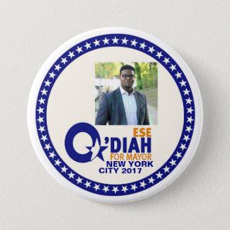 Ese O'Diah for NYC Mayor 2017 7.5 Cm Round Badge